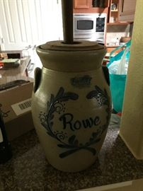 Rowe Pottery Butter Churn