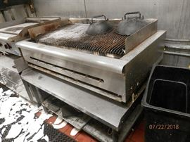 """Gas Char  Broiler...Steaks, lobster, etc..  48"""" X 30""""      CALL NOW (760) 975-5483    (760) 445-8571  ********$250**********  from working installation"""