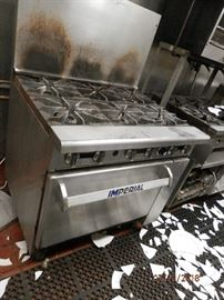 """Imperial 36"""" oven (not convection) with 6 burners....natural gas.    CALL NOW (760) 975-5483"""