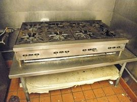 """U.S. Range 8burner 48"""" gas cooktop.   From working installation**********$300**********. table separate.  Call NOW!   (760) 975-5483 DJ   (760) 445-8571 Charlotte...come and get it !!"""