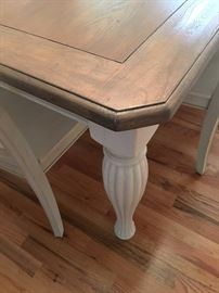 Check out the lovely legs and finish on this table