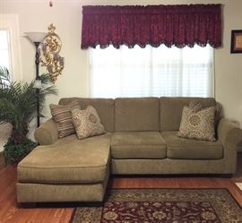 Sofa with chaise, approximately 1 year old, like new condition