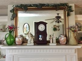 Large wall mirror and home decor