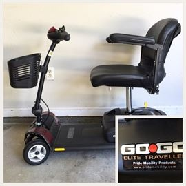 Available for PRE-SALE GoGo Elite Traveller, motorized mobility scooter, excellent condition, needs new batteries.
