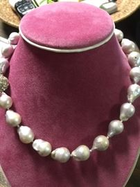 Grey South China Sea Pearls - Unfinished
