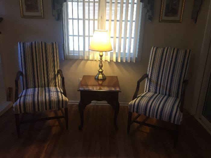 Beautiful Ethan Allen chairs.