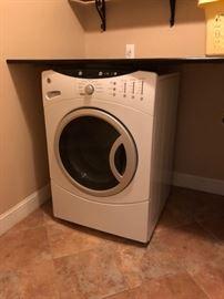 GE front loading washing machine.