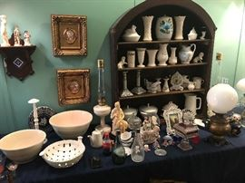 Tons of Lenox, Beleek, Delft, Ironstone, and other fine china items.