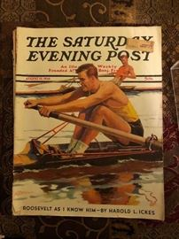 1936 Saturday Evening Post with President Roosevelt