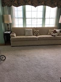 """103"""" light neutral couch. Rare size"""