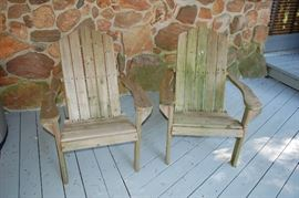 Adirondack chairs (two of four)