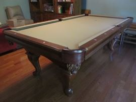Brunswick pool table in excellent condition. Leather pockets.