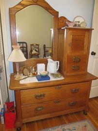 Antique hatbox dresser