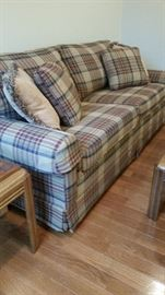 Livingston Furniture brand Queen sleeper sofa, hardwood frame construction, very firm bench!  Great sofa!