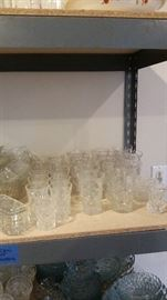 Prescut Clear by Anchor Hocking including tumblers, juice glasses, coasters, & toothpick holder