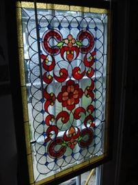 beveled glass, joules, window panel
