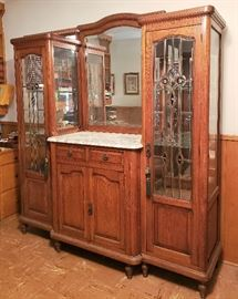 Stunning late 1800's display cabinet.