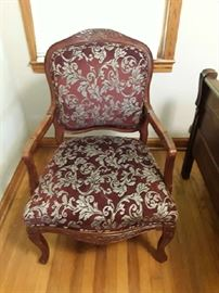 Beautiful Victorian upholstered arm chair.