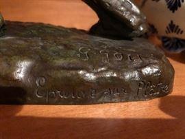 "Bronze Signed Georges Gori (1920-1940) 13""L x 9 3/8 T"