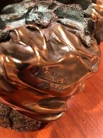 """Jan Searle Bronze signed and marked AP stands 13 1/2"""" Tall 9"""" deep and 16"""" wide"""