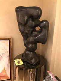 "Erwin Binder ""United"" Bronze stands 39 1/2"" Tall 12"" deep and 18"" wide"