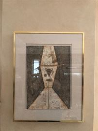 Rufino Tamayo pencil signed and numbered 58/100 19W x 24T