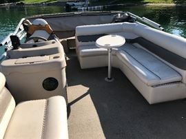 2003 21 foot Premiere Pontoon with Yamaha 40hp motor.  In excellent condition. Every winter this beauty has been winterized and shrink wrapped. Includes fish locator and the battery was replaced last year.