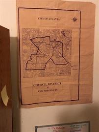 Old map of 4th ward Atl