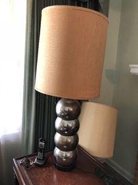 Vintage chrome bubble lamp