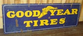 "22"" x 64"" Porcelain Good Year Tires Sign"