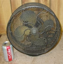 Emerson Jr. Brass Blade Electric Fan w/Safety Cage