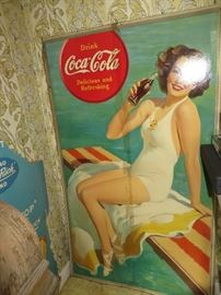 large coca cola sign
