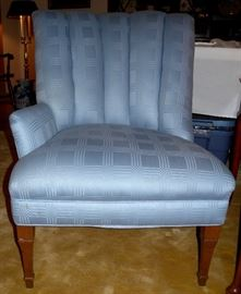 Pair of beautiful channel-back vintage chairs