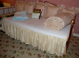 Brass day bed, pulls out with trundle bed underneath