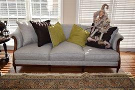 Vintage Couch, Decorative Pillows, & Home Decor