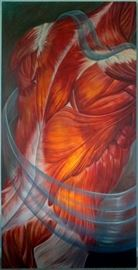3' x 6' oil painting