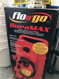 Flon'go Duramax 14 gallon portable wheeled Fuel Container - Never Used in the Box