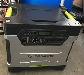 Yeti Goal Zero 1250 Battery Generator with added wheels and periscoping handle