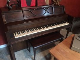 Winter Upright Console Piano with Bench.