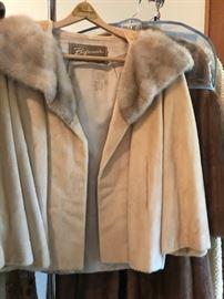 Vintage short Bifano Furs swing jacket with original receipt