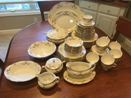Homer Laughlin service for 12 plus serving pieces.