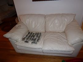 Sealy Leather Love Seat