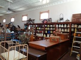 Peach Tree Mercantile overview of one section