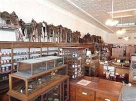 Oak Display Cases & Saddles