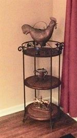 Wicker & Wrought Iron Etagere'