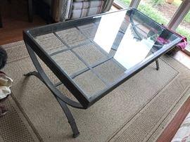 Glass / Metal Coffee Table $ 80.00