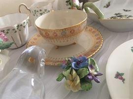 The teacup is Belleek