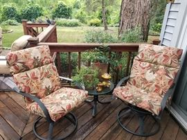Pair of nice rocking patio chairs
