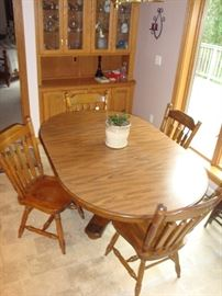 Solid Wood Table w/ (4) Chairs