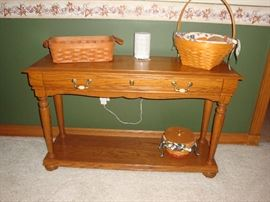 Solid Oak Sofa Table/Accent Table (1 of 3)~Longaberger Baskets